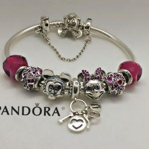Pandora Disney bracelet +8pandora Disney beads set
